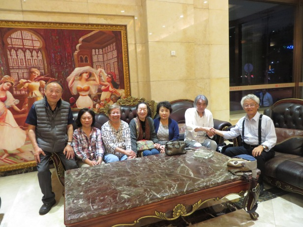 照片十 史維會同仁與渡邊夫婦在上海時留影